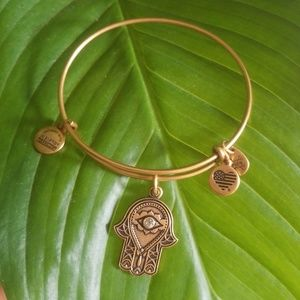 Alex and Ani Hand of Fatima Gold Bracelet